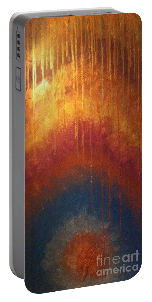 Portable Battery Charger featuring the painting Peace by Cynthia Williams