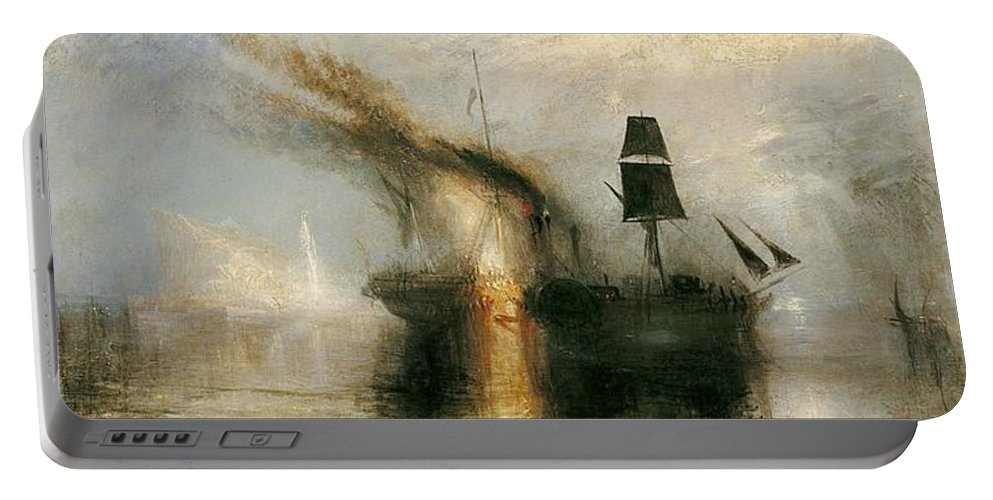 1842 Portable Battery Charger featuring the painting Peace by JMW Turner