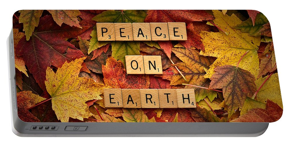 Daniel J. Kmiecik Portable Battery Charger featuring the photograph Peace On Earth-autumn by Onyonet Photo Studios
