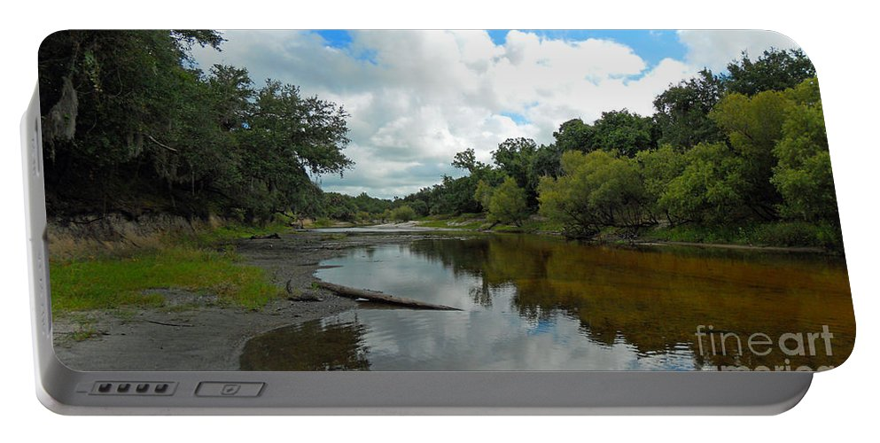 River Portable Battery Charger featuring the photograph Peace River 2 by Nancy L Marshall
