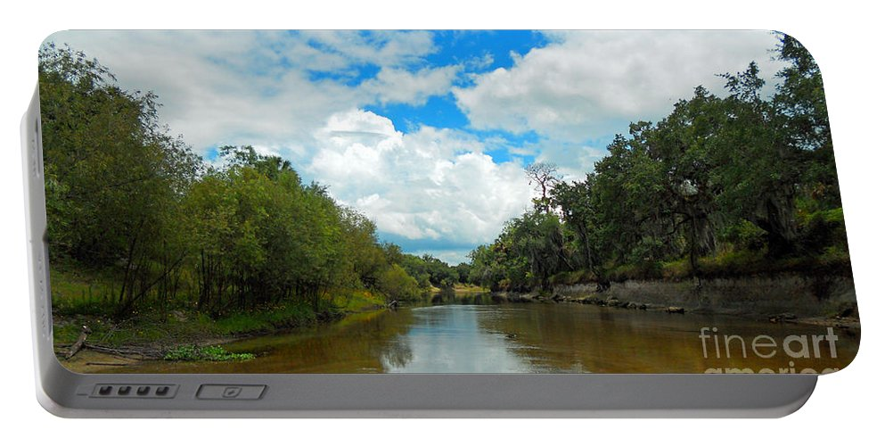 River Portable Battery Charger featuring the photograph Peace River 4 by Nancy L Marshall