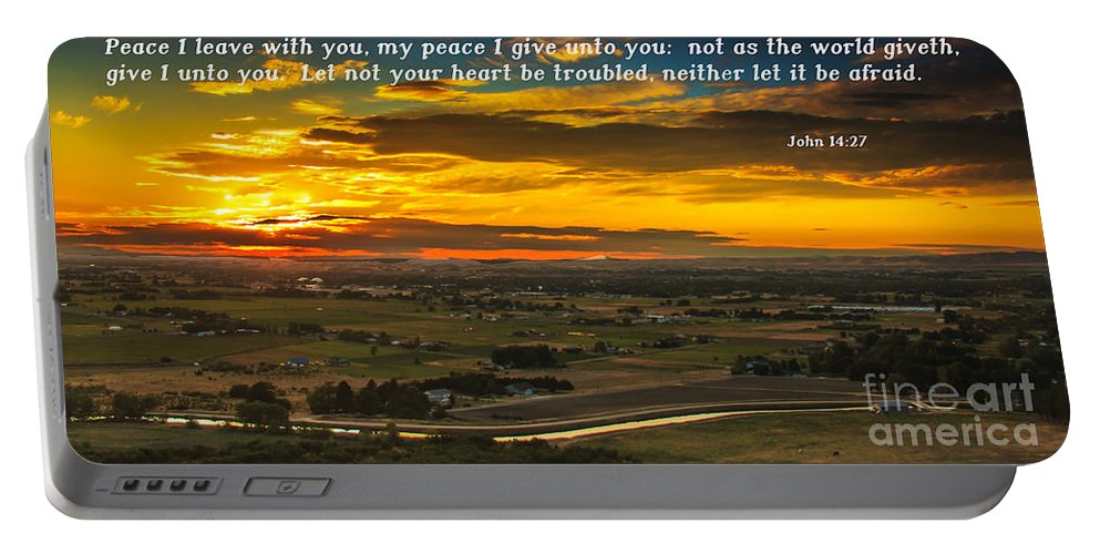 Scripture Photos Portable Battery Charger featuring the photograph Peace by Robert Bales