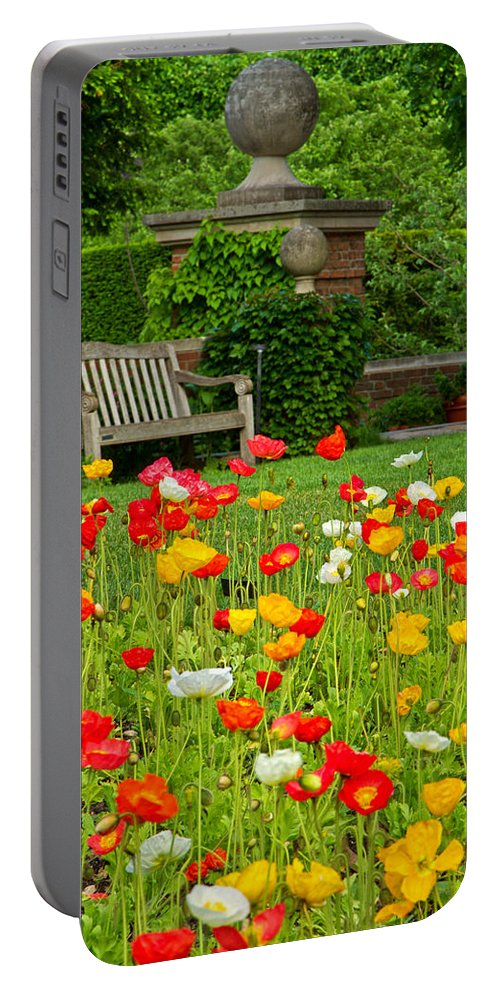 Poppies Portable Battery Charger featuring the photograph Peaceful Interlude by Lindley Johnson