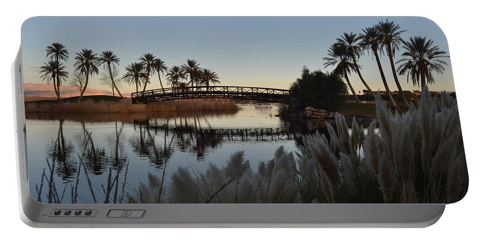 Las Vegas Portable Battery Charger featuring the photograph Peaceful Las Vegas by Christine Owens