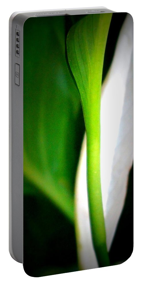 Digital Photograph Portable Battery Charger featuring the photograph Peaceful Lily by Laurie Pike