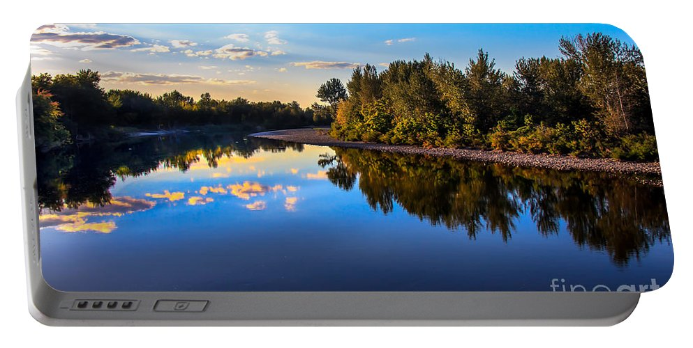 Rviver Portable Battery Charger featuring the photograph Peaceful Payette River by Robert Bales