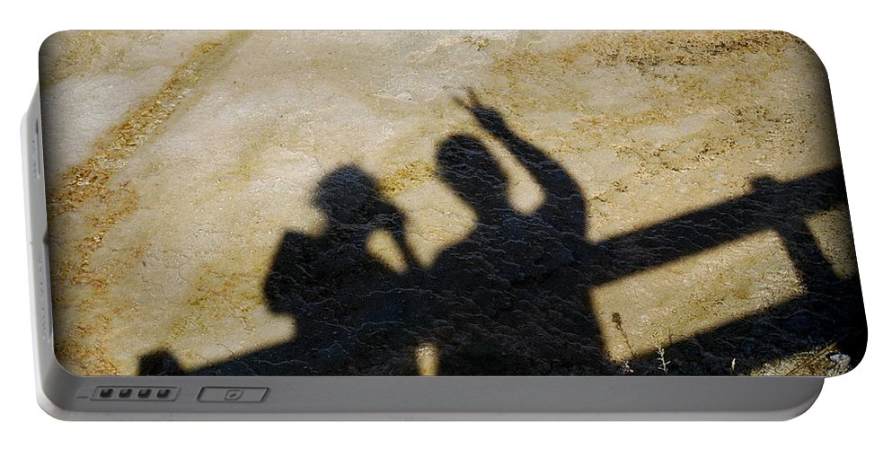 Shadow Portable Battery Charger featuring the photograph Peaceful People Shadows by Kathy Sampson