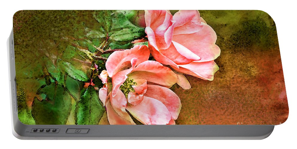 Nature Portable Battery Charger featuring the photograph Peachy Keen by Debbie Portwood