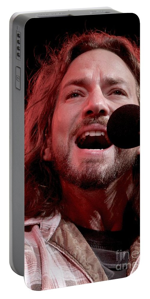 Pictures For Sale Portable Battery Charger featuring the photograph Pearl Jam by Concert Photos