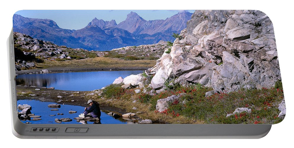 North Cascades Portable Battery Charger featuring the photograph Peeking At Her Reflection by Tracy Knauer