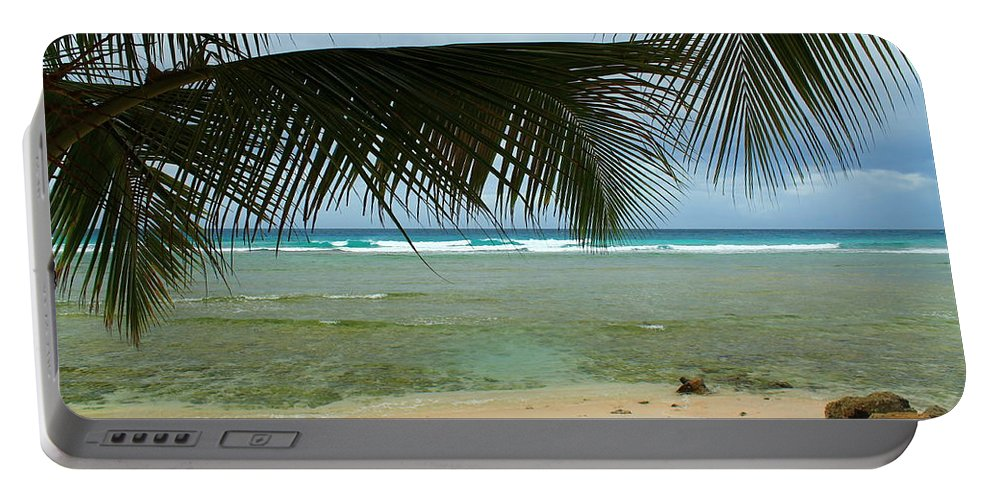 Barbados Portable Battery Charger featuring the photograph Peeking by Catie Canetti