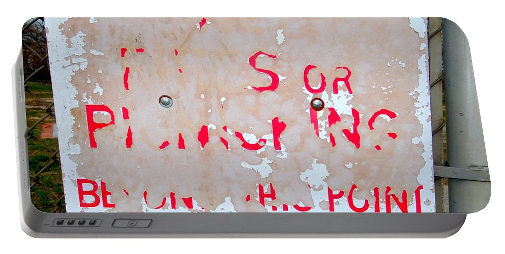 Signs Portable Battery Charger featuring the photograph Peeling Paint by Ed Weidman