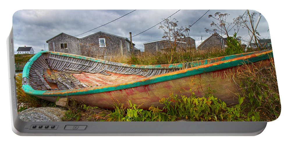 Peggy's Portable Battery Charger featuring the photograph Peggy's Cove 14 by Betsy Knapp