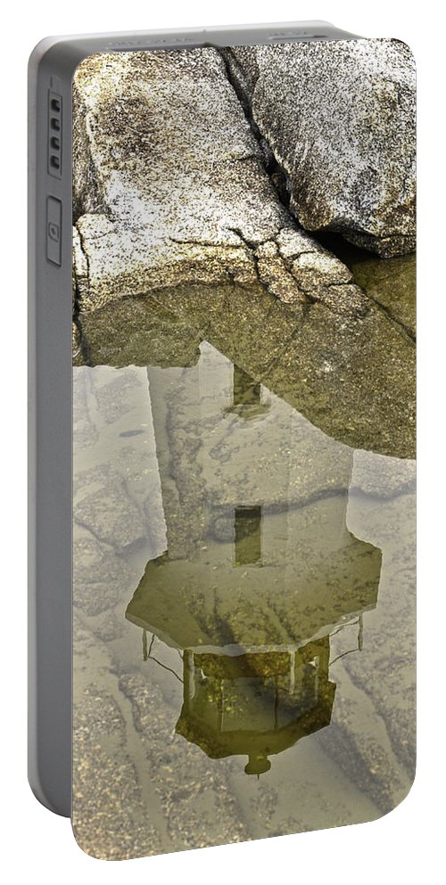 Peggys Portable Battery Charger featuring the photograph Peggys Cove Reflection by James Ekstrom