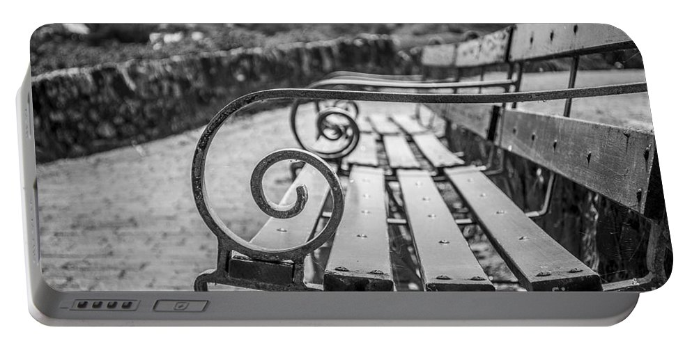 Bench Portable Battery Charger featuring the photograph Pembroke Bench by Mair Hunt