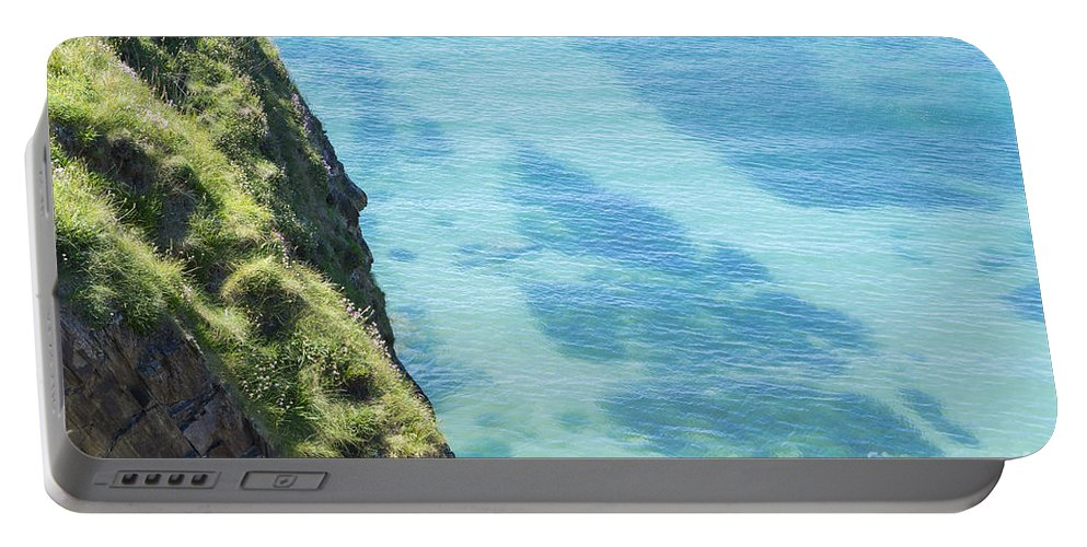 Cliff Portable Battery Charger featuring the photograph Pembrokeshire Cliffs by Mair Hunt