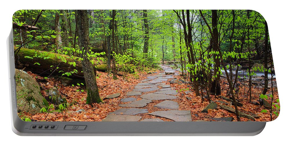 Nature Portable Battery Charger featuring the photograph Pennsylvania Hiking Trail by Carol VanDyke