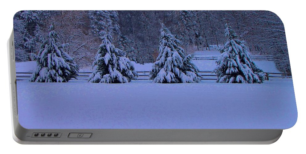 Pennsylvania Portable Battery Charger featuring the photograph Pennsylvania Snowy Wonderland by David Dehner