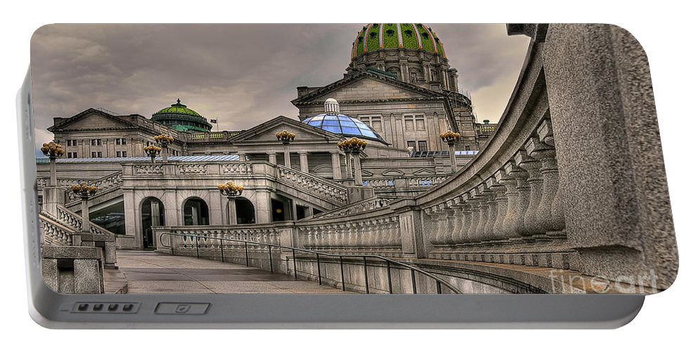 Pennsylvania State Capital Portable Battery Charger featuring the photograph Pennsylvania State Capital by Lois Bryan