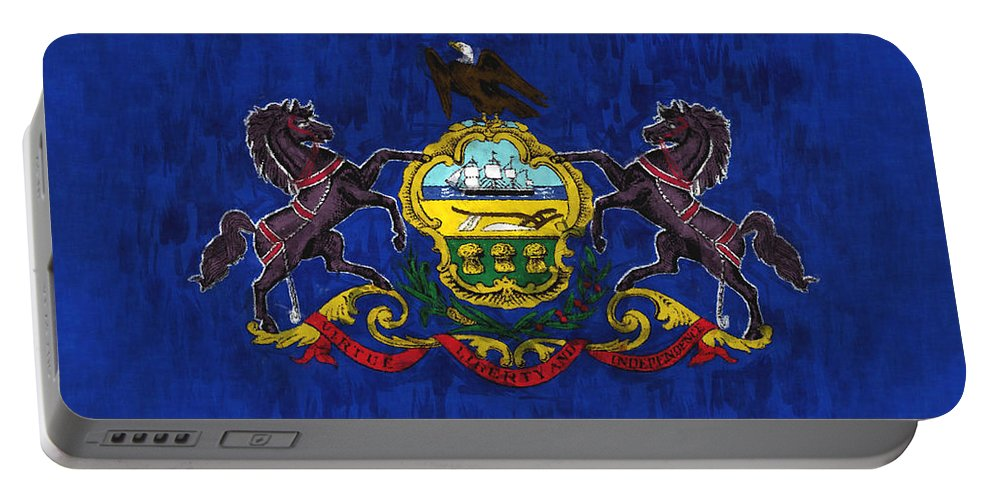 Pennsylvania Portable Battery Charger featuring the digital art Pennsylvania by World Art Prints And Designs