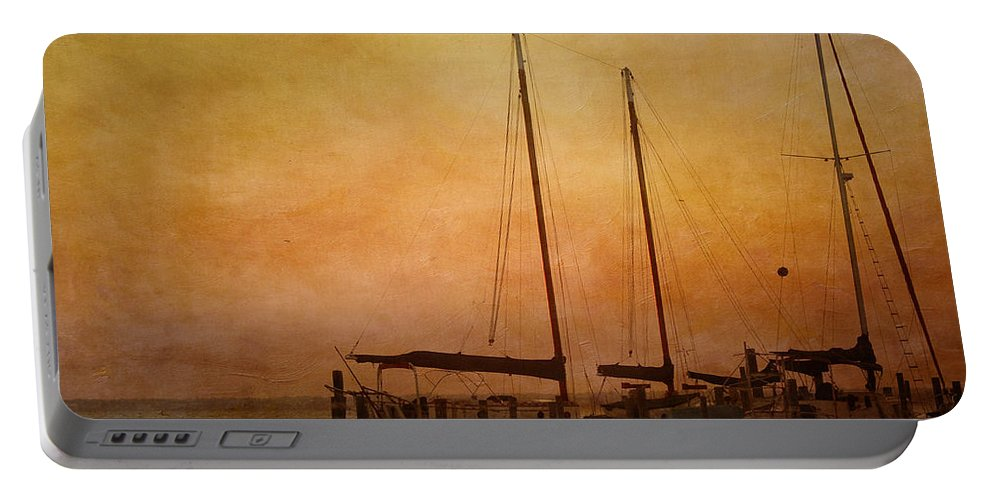 Sunset Portable Battery Charger featuring the photograph Pensacola Harbor by Kim Hojnacki