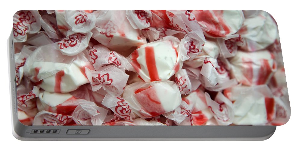 Candy Portable Battery Charger featuring the photograph Peppermint Taffy by Caitlyn Grasso