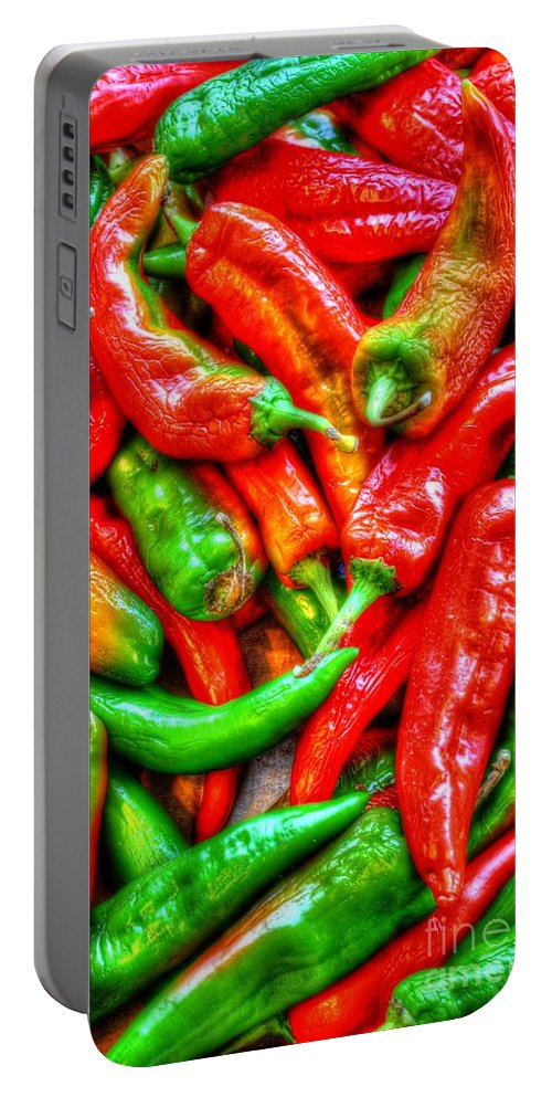 Agriculture Portable Battery Charger featuring the photograph Peppers by Dan Stone