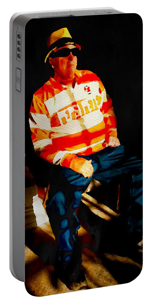 Man Portable Battery Charger featuring the photograph Pepsi Pete In Repose by Alice Gipson