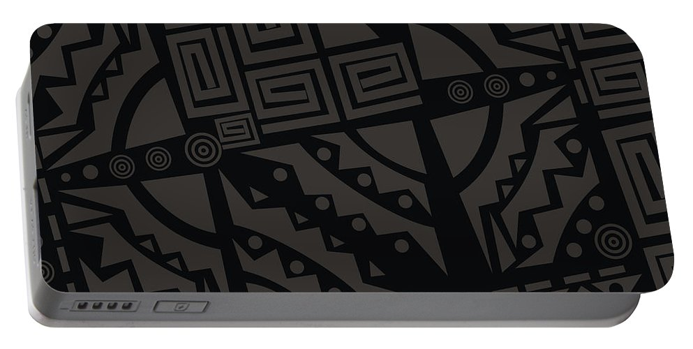 Adinke Portable Battery Charger featuring the digital art Perfect Imperfections II - Charcoal Infusion by Adinke Inc