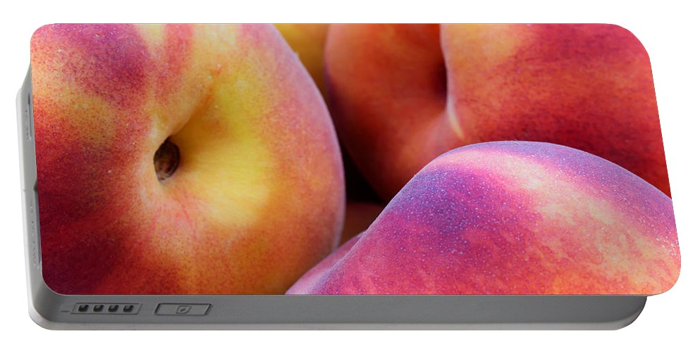 Agriculture Portable Battery Charger featuring the photograph Perfectly Peachy by Heidi Smith