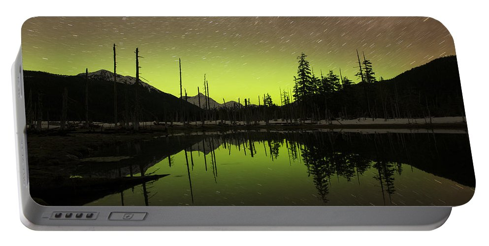 Aurora Portable Battery Charger featuring the photograph Perfectly Still by Ted Raynor
