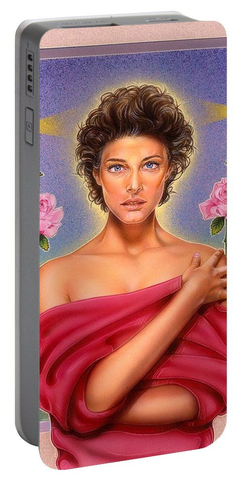 Fantasy Portable Battery Charger featuring the painting Perfume by Timothy Scoggins