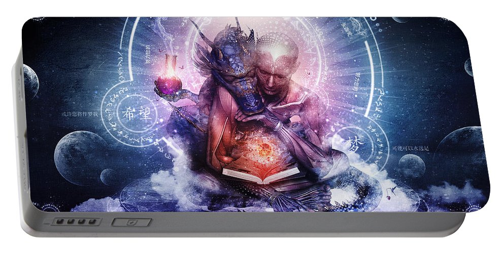 Spiritual Portable Battery Charger featuring the digital art Perhaps The Dreams Are Of Soulmates by Cameron Gray