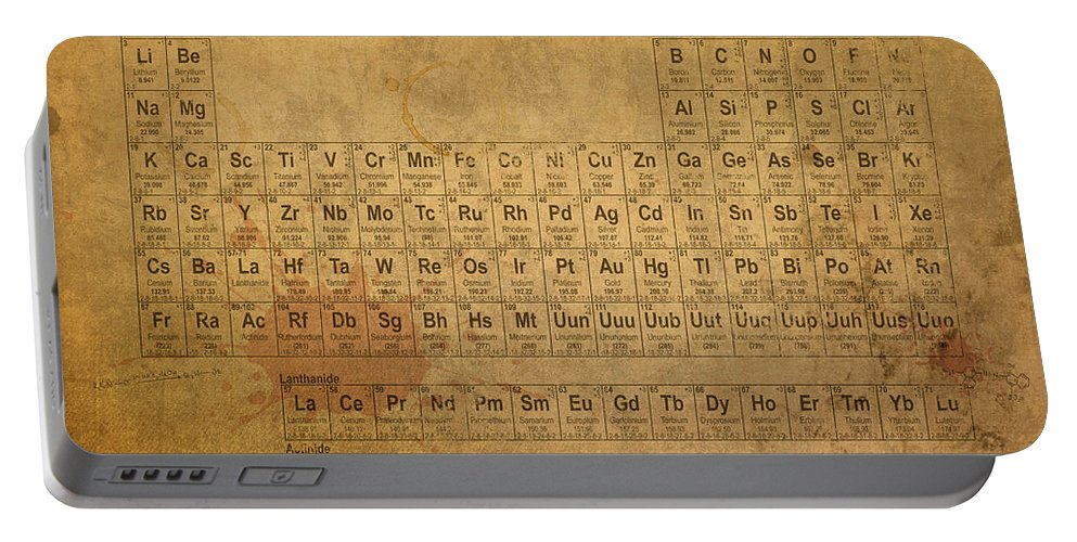Periodic table of the elements portable battery charger for sale periodic portable battery charger featuring the mixed media periodic table of the elements by design turnpike urtaz Image collections