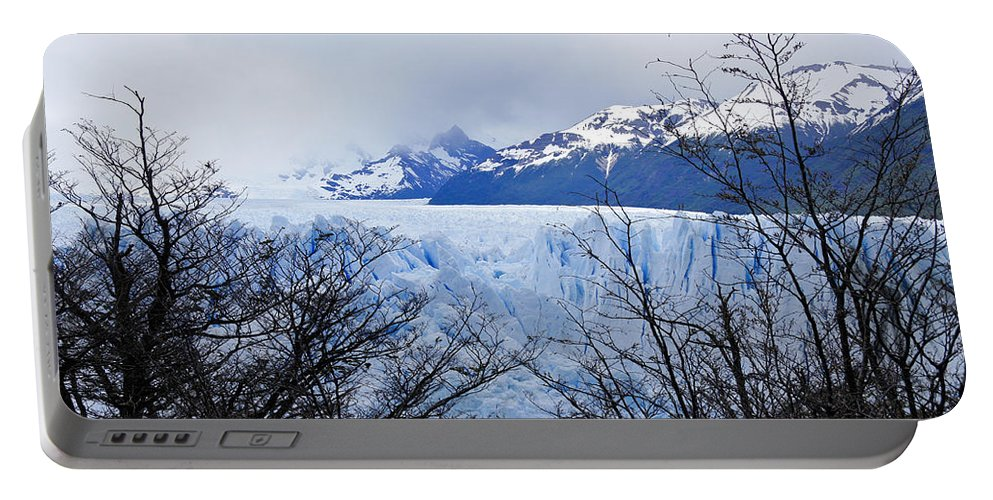 Argentina Portable Battery Charger featuring the photograph Perito Moreno Glacial Landscape by Michele Burgess