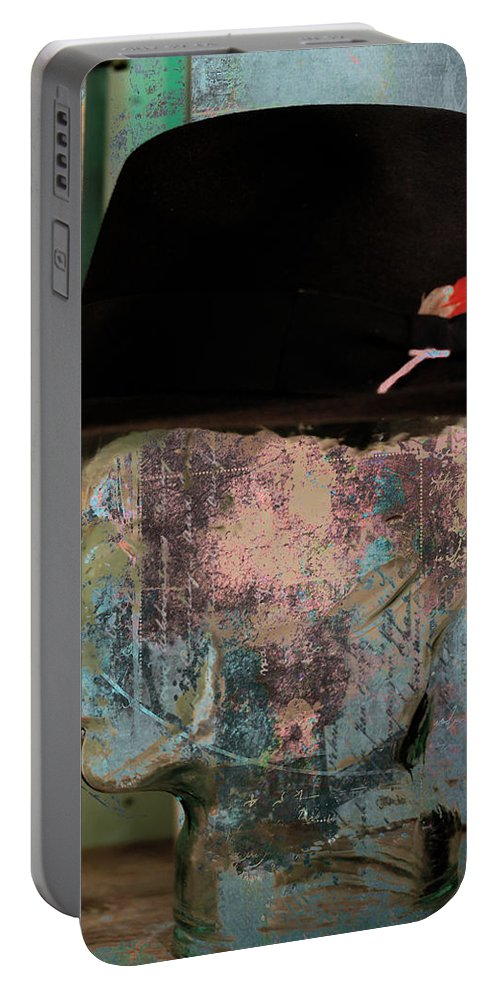 Abstract Portable Battery Charger featuring the photograph Personality Three by The Artist Project