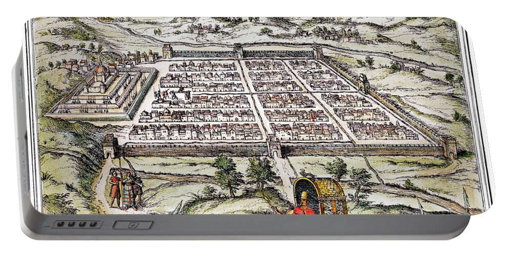 1572 Portable Battery Charger featuring the photograph Peru: Cuzco, 1572 by Granger