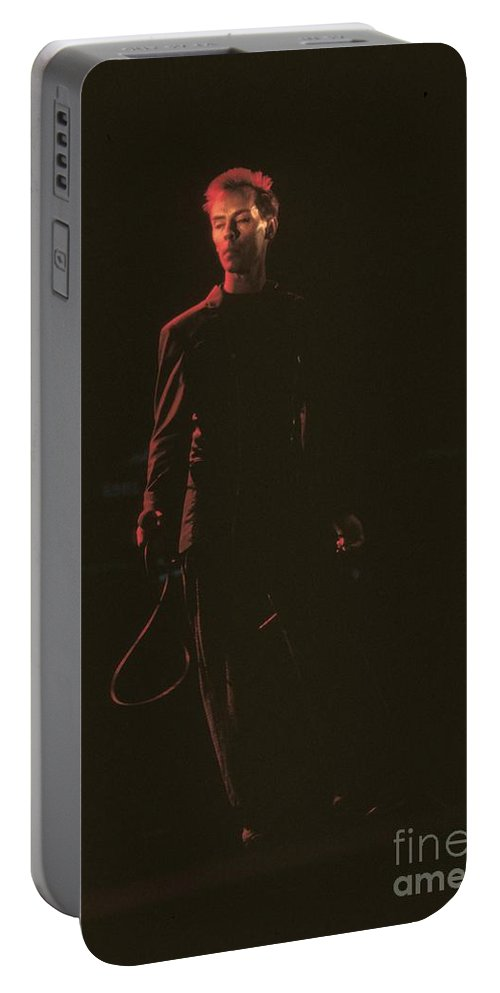 Gothic Rock Portable Battery Charger featuring the photograph Peter Murphy by Concert Photos