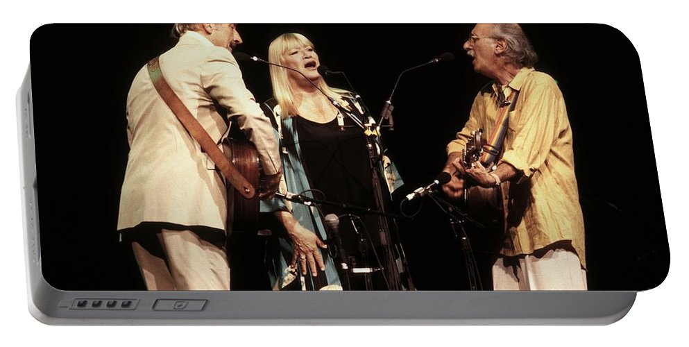 Photos Portable Battery Charger featuring the photograph Peter Paul And Mary by Concert Photos