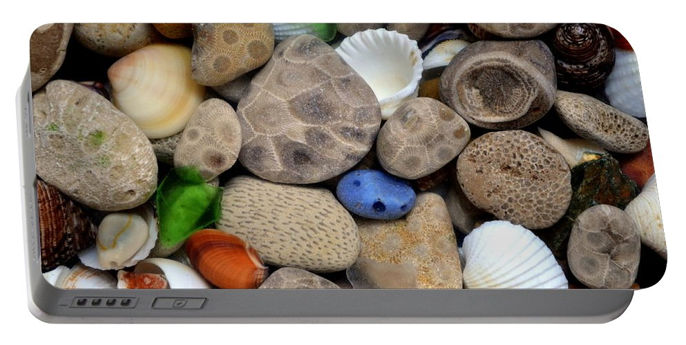 Stone Portable Battery Charger featuring the photograph Petoskey Stones Lll by Michelle Calkins