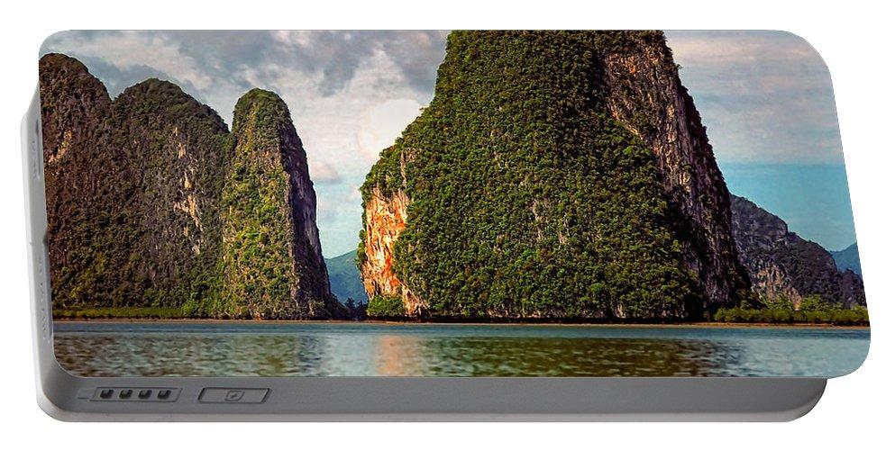 Phang Nga Bay Portable Battery Charger featuring the photograph Phang Nga Bay by Steve Harrington