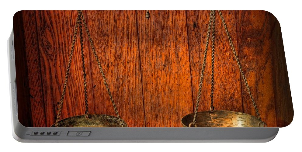 Paul Ward Portable Battery Charger featuring the photograph Pharmacy -apothecary Scale by Paul Ward