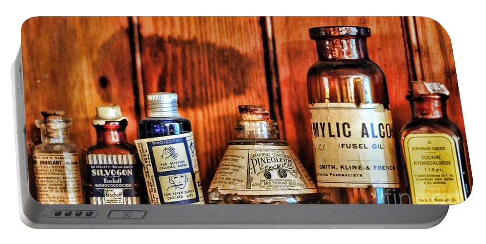Paul Ward Portable Battery Charger featuring the photograph Pharmacy - Cocaine In A Bottle by Paul Ward