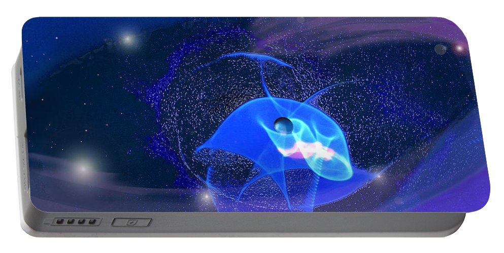 Space Portable Battery Charger featuring the digital art Phenomenon II by Steve Karol