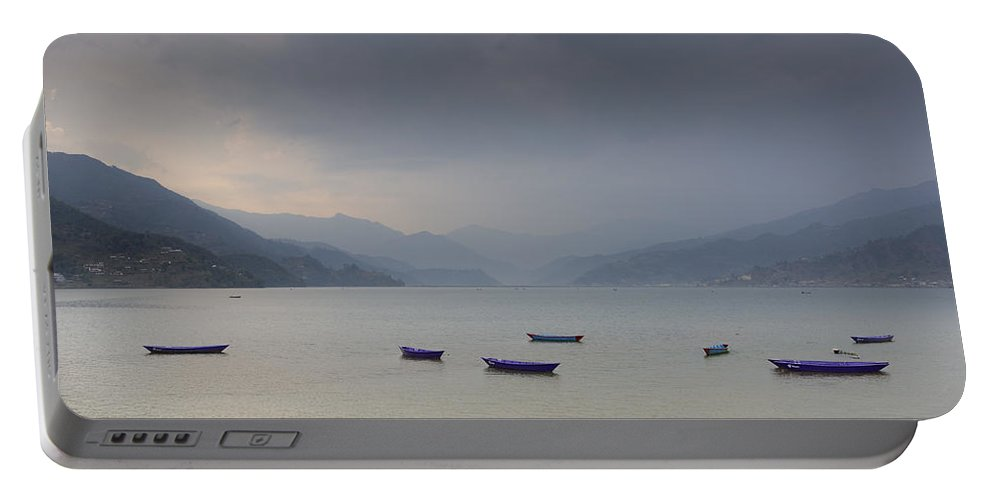 Nepal Portable Battery Charger featuring the photograph Phewa Lake In Pokhara by Dutourdumonde Photography