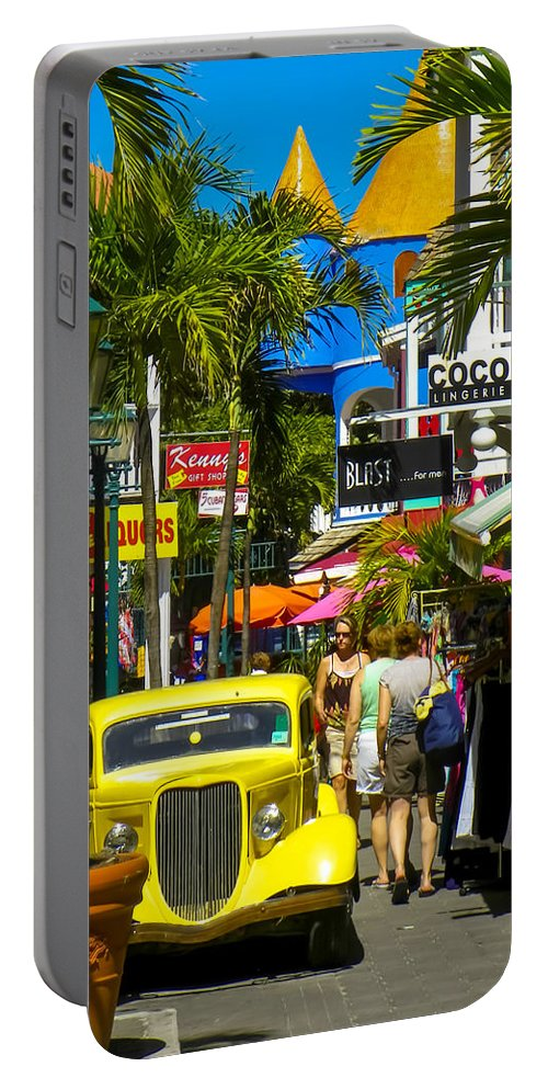 Philipsburg Portable Battery Charger featuring the photograph Philipsburg by Karen Wiles