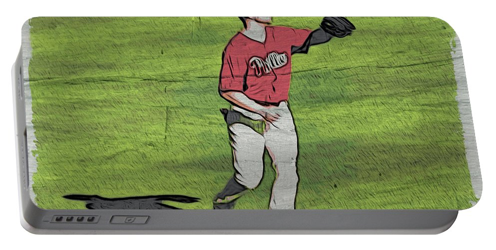 Baseball.phillies Portable Battery Charger featuring the photograph Phillies Catch by Alice Gipson