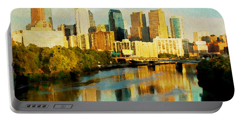 Philadelphia Portable Battery Charger featuring the photograph Philly Gleamin by Alice Gipson
