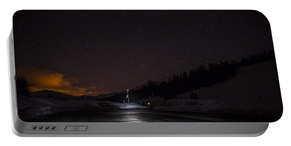Berthoud Pass Portable Battery Charger featuring the photograph Photographer's Hideaway by Angus Hooper Iii