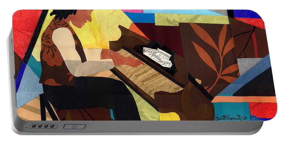 Everett Spruill Portable Battery Charger featuring the painting Piano Man by Everett Spruill